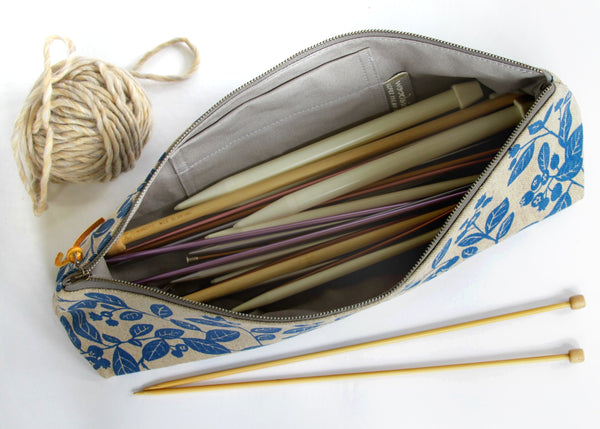 Knitting Needle Pouch - Blueberry