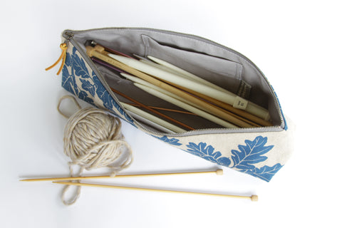 Knitting Needle Pouch - Garry in Denim