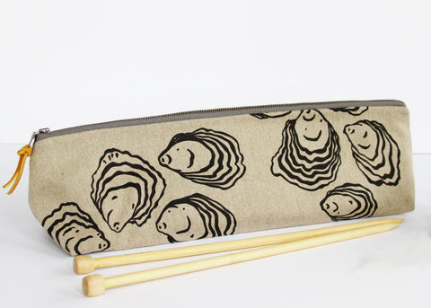 Knitting Needle Pouch - Oyster