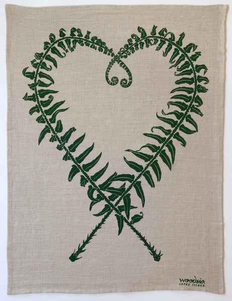 Sword Fern Kitchen Towel in Hunter