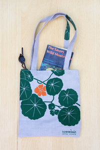 Nasturtium Simple Tote, blue-green