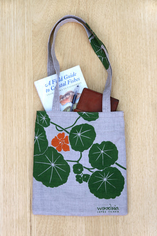 Nasturtium Simple Tote, yellow-green