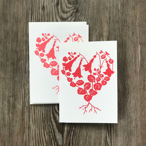 Twinflower Heart Notecards