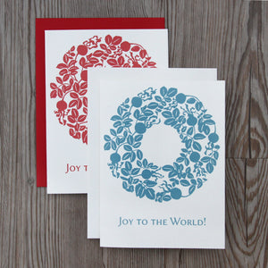 6 Nootka Rose Wreath Notecards