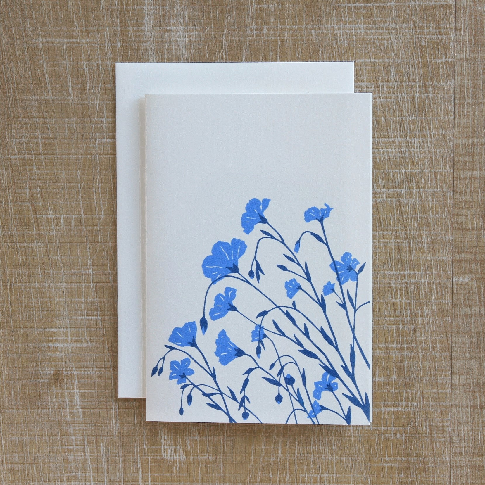 6 Flax Notecard in Flax Blue