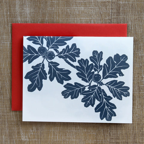 6 Garry Oak Notecards in Charcoal