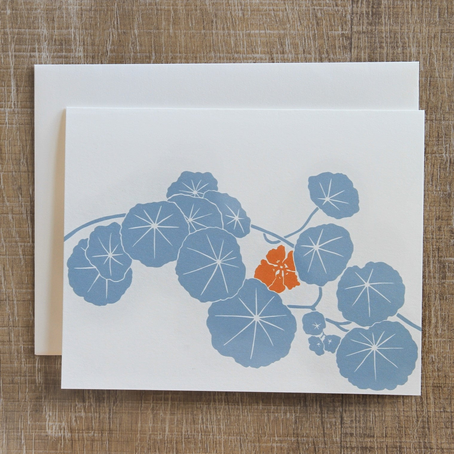 6 Nasturtium Notecards in Fog