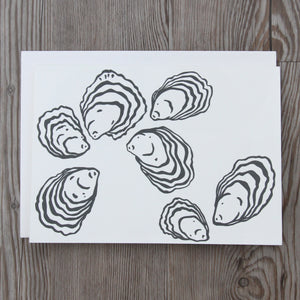 6 Oyster Notecards