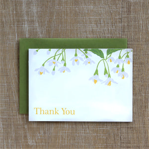 6 Styrax Japonica Thank You notes