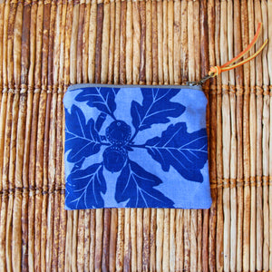 "5"" Pouch - Blue on Blue Garry Oak Pouch"