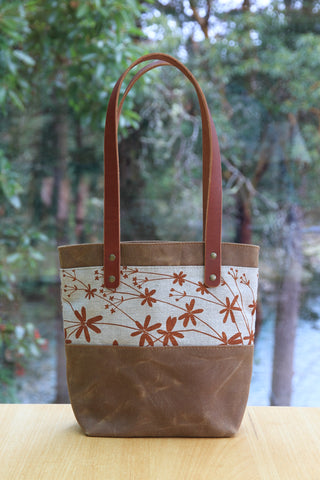 Medium Bedstraw Tote with Leather Handles