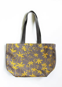 Sturdy Tote - Bedstraw in Sunshine on Gray