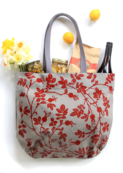 Market Bag - Nootka in Red
