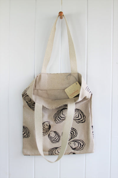 Simple Linen Bag - Oyster in Charcoal