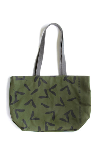 Open-Top Lined Tote - Samara in Ink on Evergreen