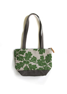 Small Zip Tote - Garry Oak in Frog