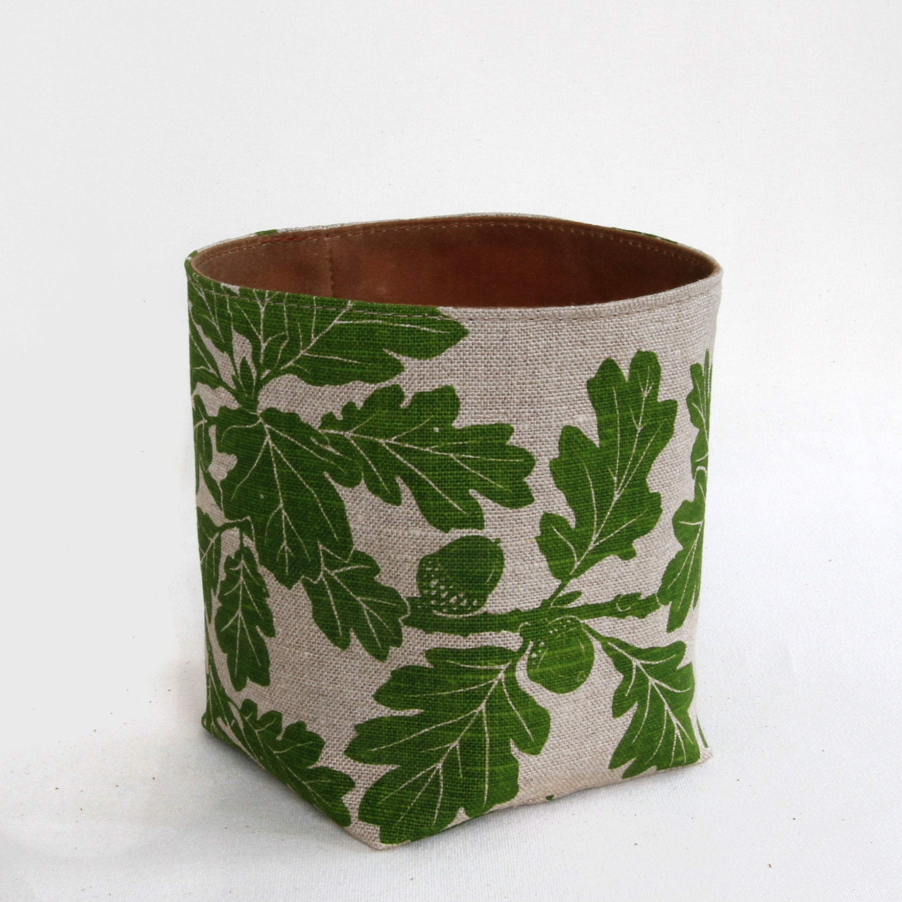 Large Garry Oak Bucket in Spring Green
