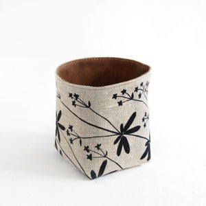 Medium Garry Oak Bucket in Charcoal