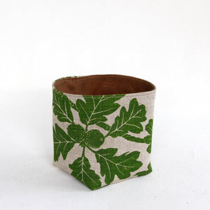 Medium Garry Oak Bucket in Spring Green