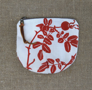 Small Nootka Rose Pouch