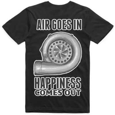 Air goes in happiness comes out