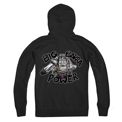 Grey Big Barra Power hoody