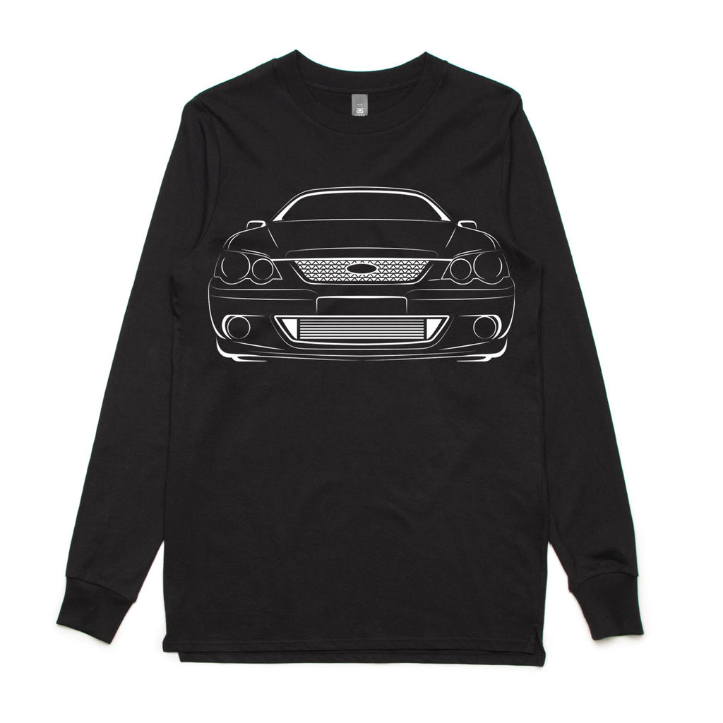 Ford Falcon BA Silhouette Adult long sleeve shirt