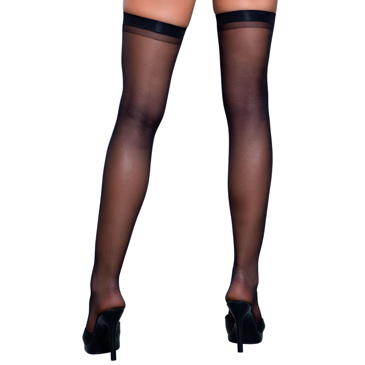 Be Wicked Best Behavior Thigh Highs Black - Cherry Blossom Intimates