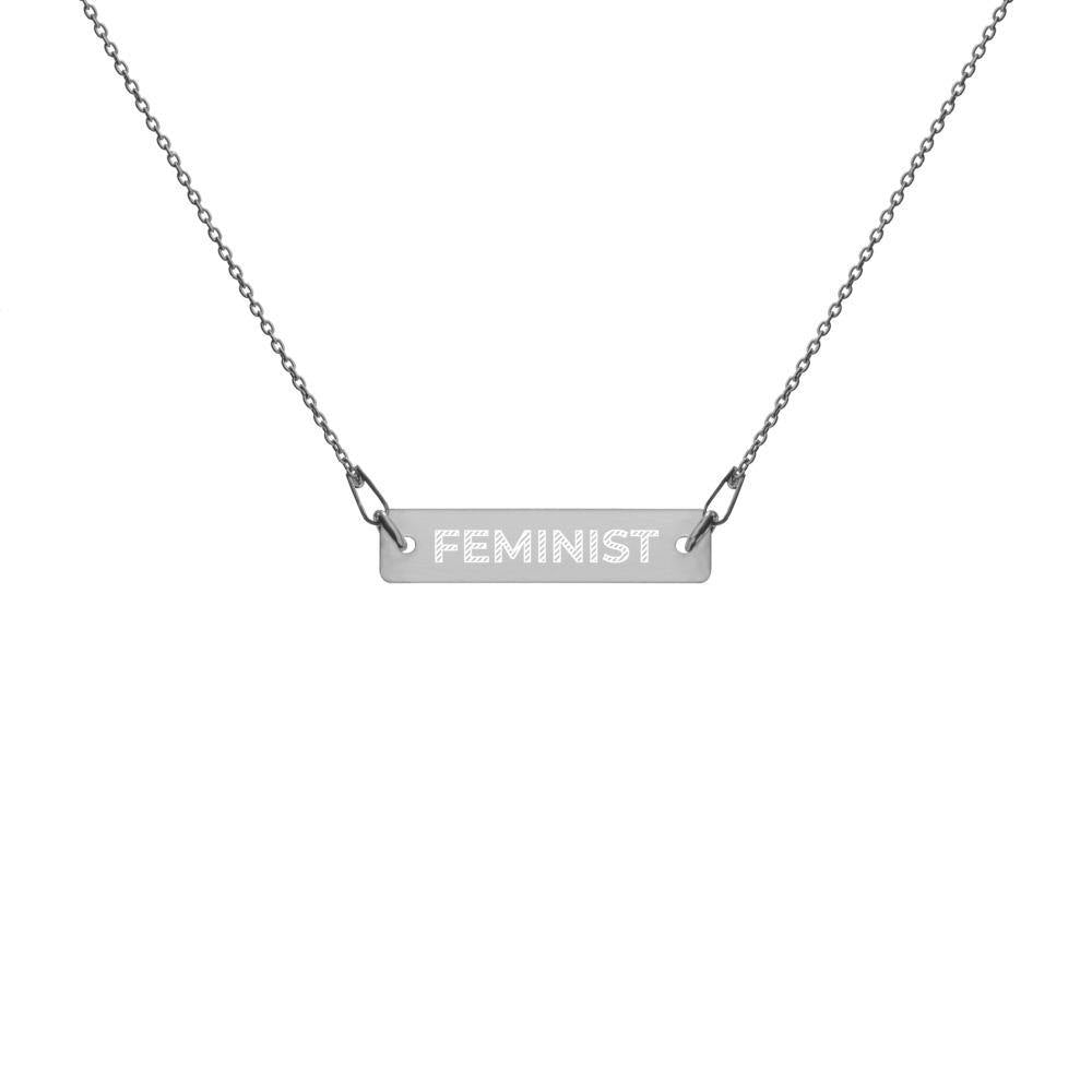 Cherry Blossom Intimates Feminist Bar Chain Necklace - Cherry Blossom Intimates