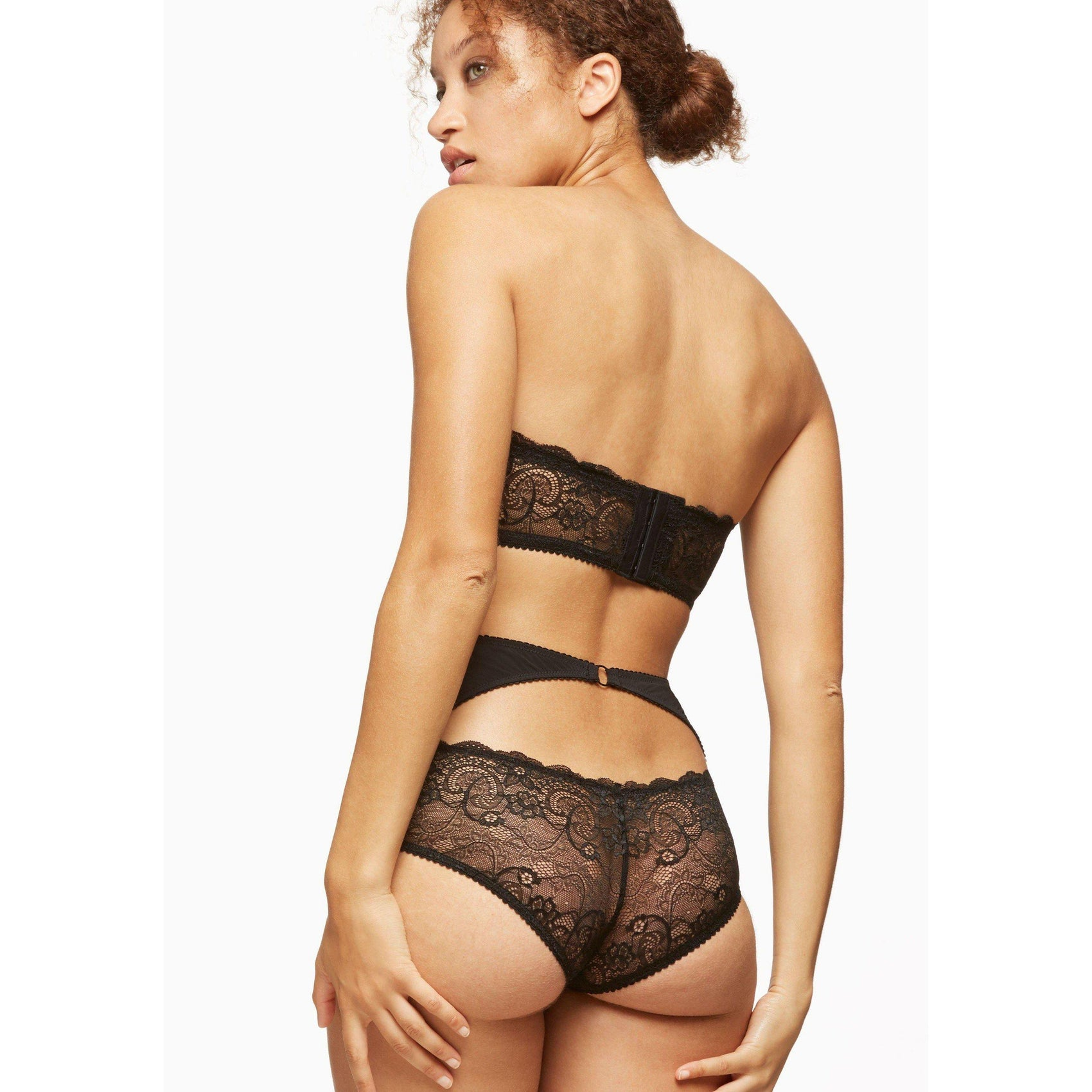 Blush Lace Nights High Waist Brief - Cherry Blossom Intimates