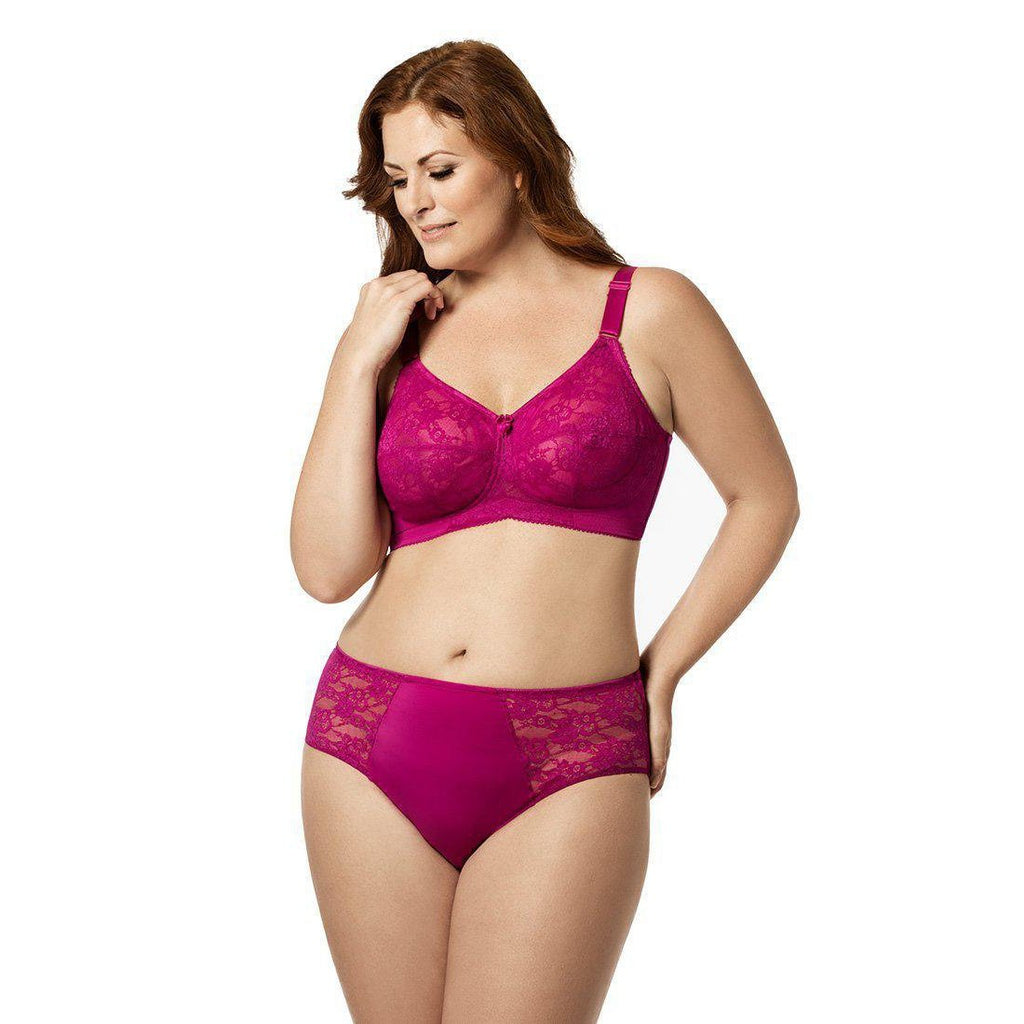 Lace Softcup Full Cup Bra Fuchsia