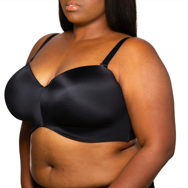 Smooth Strapless Bra Black