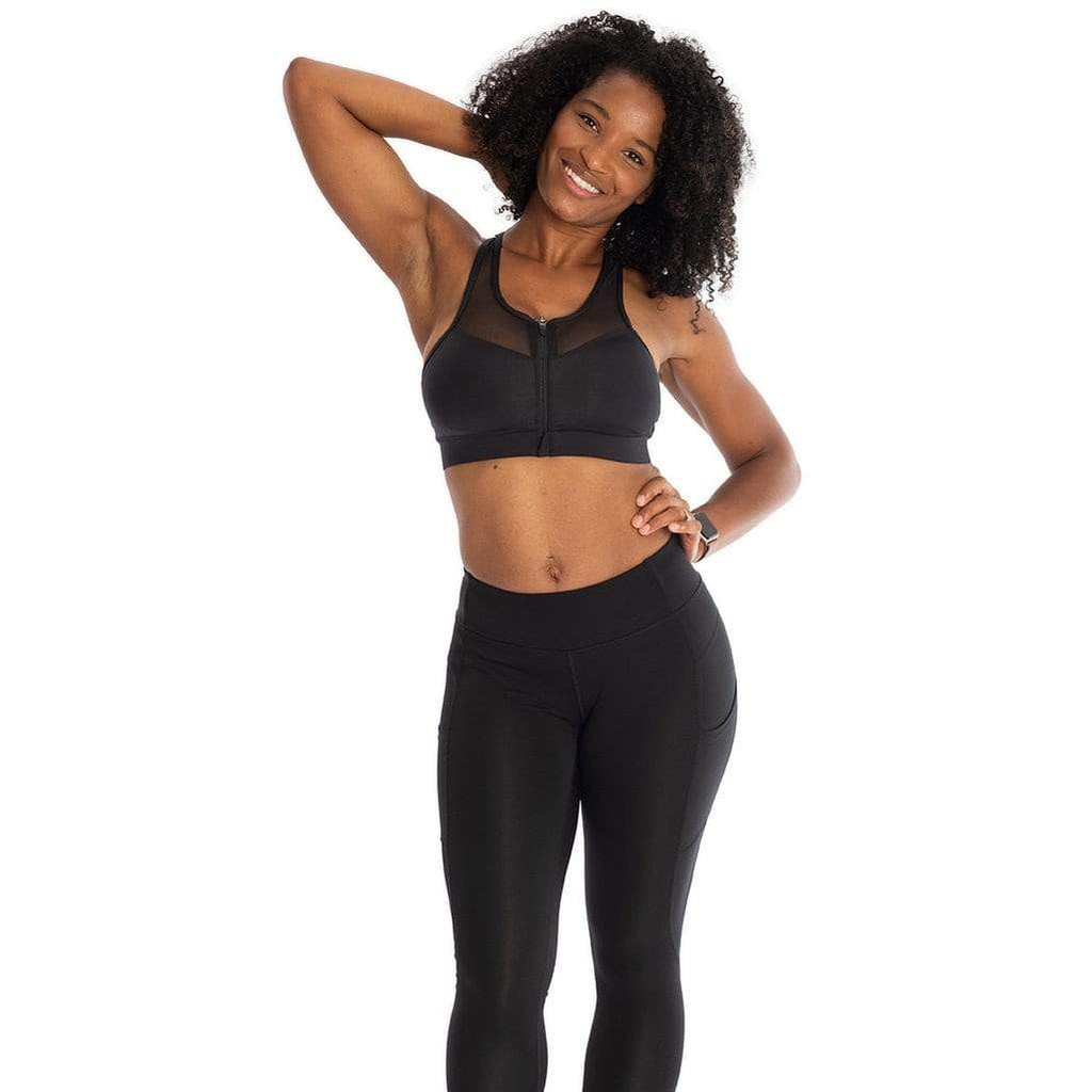 """The Closer"" Sports Bra Black"