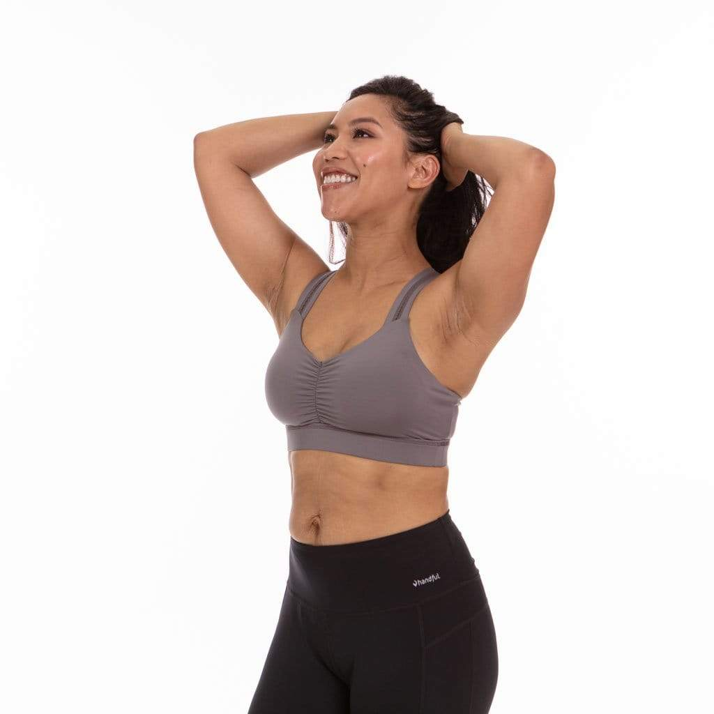 Y-Back Sports Bra Grey