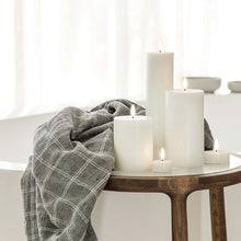 Load image into Gallery viewer, Uyuni Flameless Tea Lights and Pillars create stunning bath time ambience