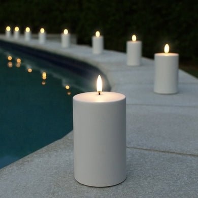 UYUNI LIGHTING Outdoor Collection - White Outdoor Flameless Candle