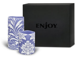 ENJOY Embossed Hand Painted Limited-Edition Duo