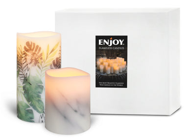 LAST SET - ENJOY Botanical Series Limited-Edition Presentation Set - Mimosa and Carrara Marble Duo