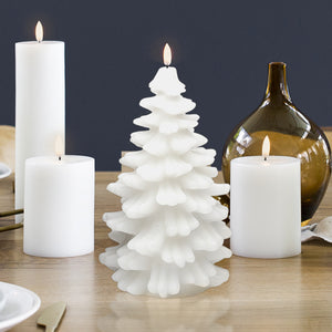 UYUNI LIGHTING Collection - Remote Enabled Nordic White Wax Christmas Tree