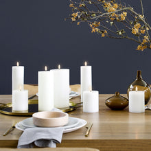 Load image into Gallery viewer, Beautiful Uyuni Pillar Candles on dining table