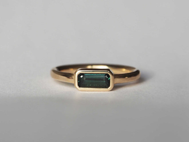 Dallas Solitaire *READY TO SHIP* Teal Sapphire