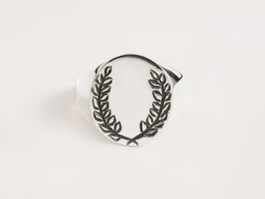 Laurel Signet Sterling Silver