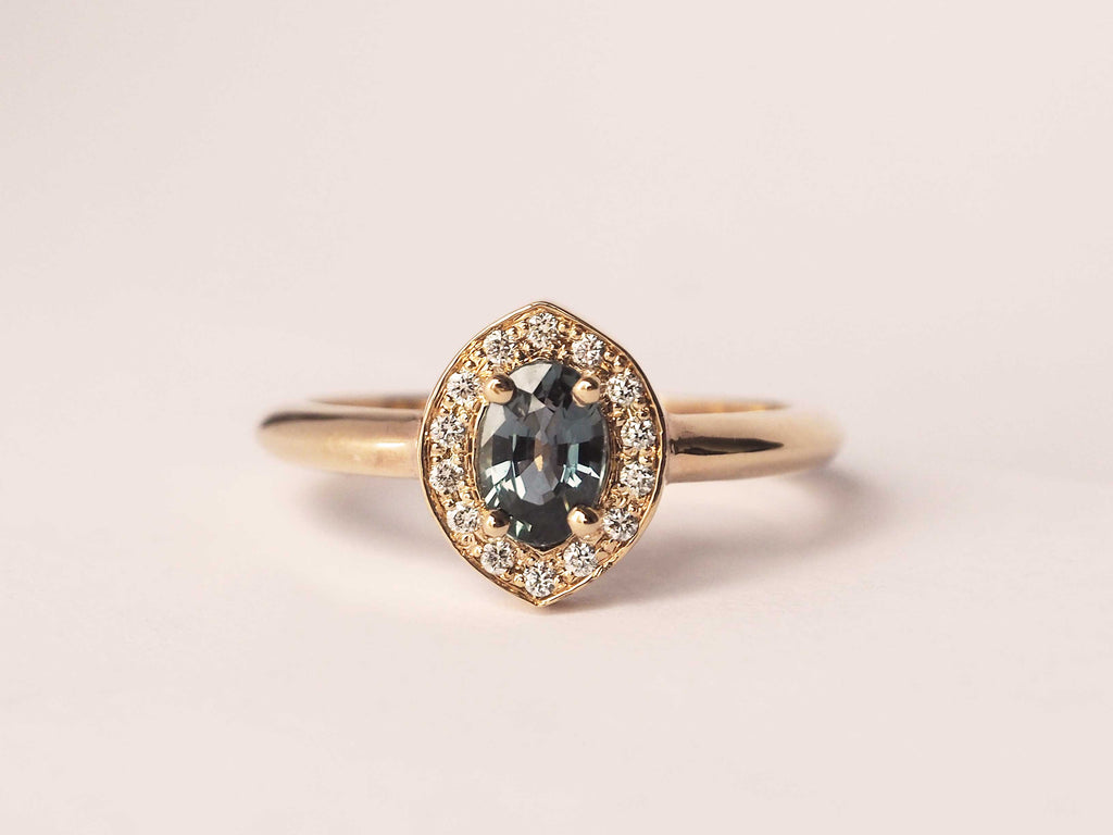Reverie Ring Teal Sapphire *READY TO SHIP*
