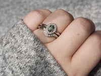 Reverie Ring Moss Sapphire *READY TO SHIP*