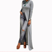 Front Split Maxi Dress Tunic Top