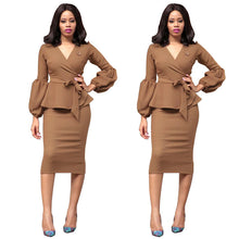 Lantern Sleeve Pencil Dress