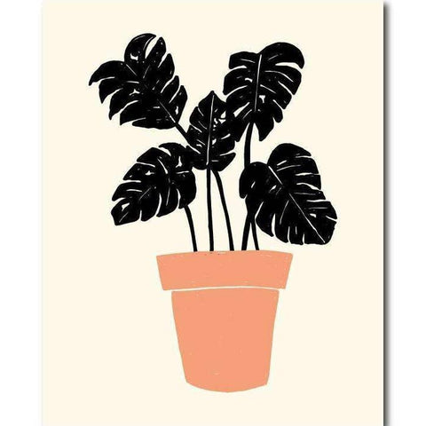 KC Relief Potted Monstera 11x14 Art Print