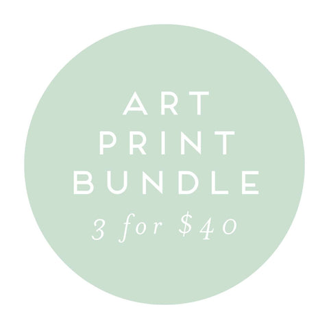 Art Print Bundle - 3 Art Prints