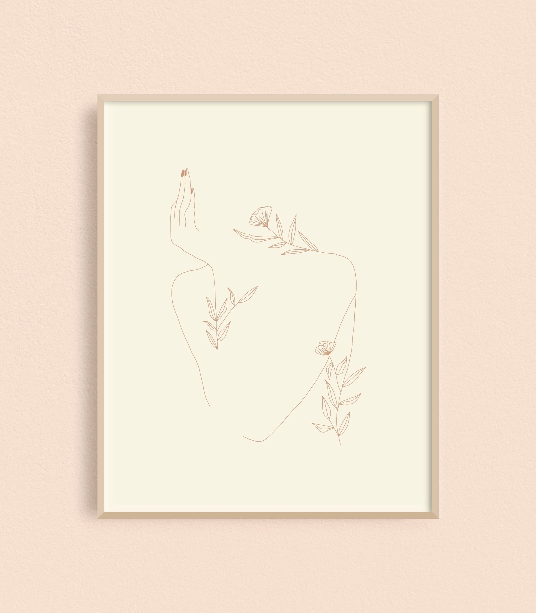 Floral Bored Lady 8x10 Art Print