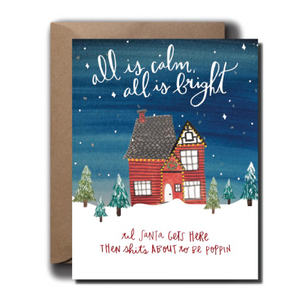 Calm & Bright Christmas Seasonal Greeting Card | A2